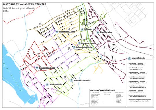 biatorbágy térkép Választókerületek, szavazókörök | Biatorbágy biatorbágy térkép